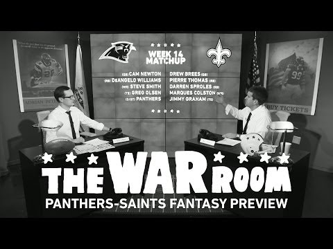 Panthers vs Saints Sunday Night Football Fantasy Preview - The War Room