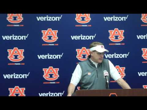 Gus Malzahn discusses the team's performance at the A-Day game.