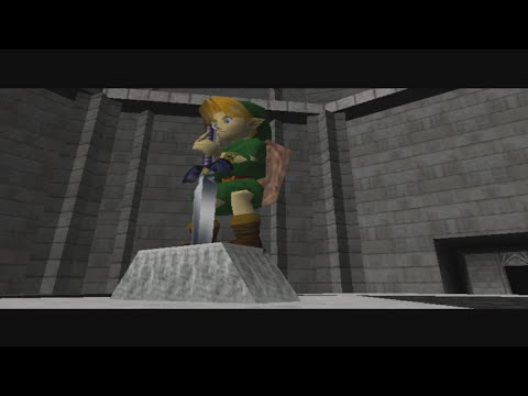 Legend of Zelda Ocarina of Time Cutscene: Getting the Master Sword