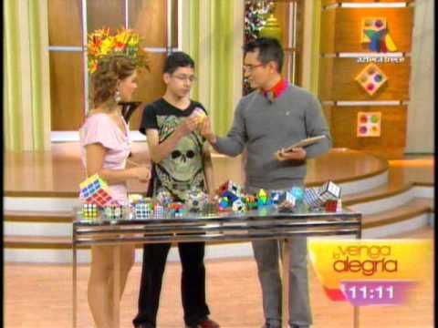Cápsula cubo de rubik en TV Azteca