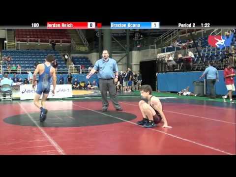 Fargo 2012 100 Round 4: Jordan Reich (Illinois) vs. Braxton Ocana (Utah)