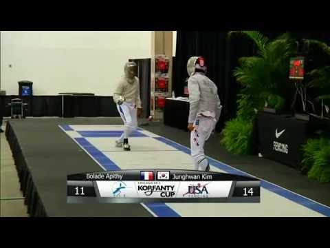 Fencing.2012 Korfanty Sabre World Cup (Chicago).Individual Semifinals & Finals. Kharlan - Zagunis