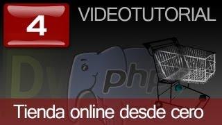 Tutorial: Como hacer tienda online en PHP con Dreamweaver. Capitulo 4