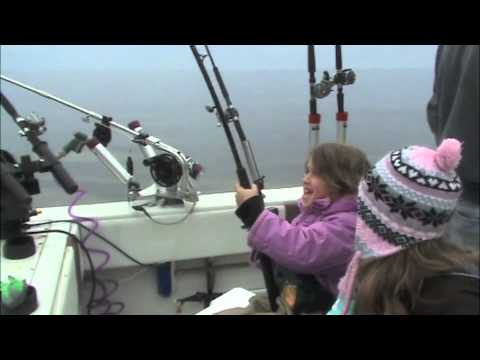 Brown Trout Fishing Lake Ontario with ReelSilver Charters 4-19-2011