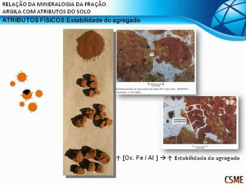 Relação da mineralogia com atributos do solo / Relationship between mineralogy and soil attributes