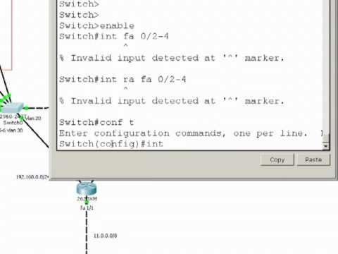 VLAN on Cisco switches with Cisco Packet Tracer 5.3 Part 2 of 3