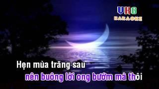 Hẹn mùa trăng sau - karaoke ( only singer )