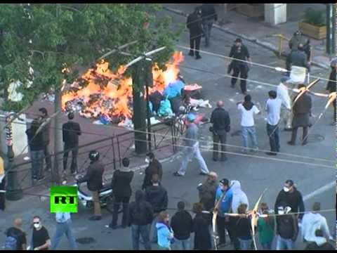 Greek Battlefield: Video of Athens clashes with police
