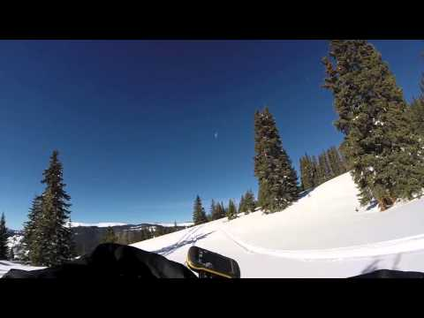 Snow bike Crash