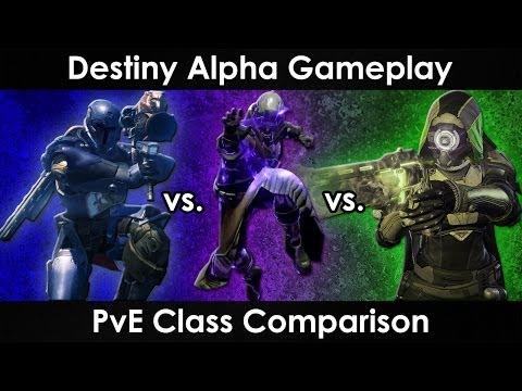 Destiny Alpha Gameplay: Warlock vs. Titan vs. Hunter - PvE Class Comparison - UCkmAjbIecTIjTQctolYeuDw