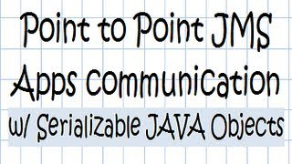 Point to Point JMS Applications communication w/ Serializable JAVA Objects