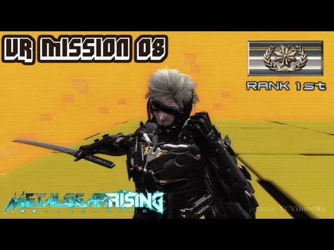 Metal Gear Rising: Revengeance - VR Mission 08 - Rank 1st (Gold) - Time: 00:49.30