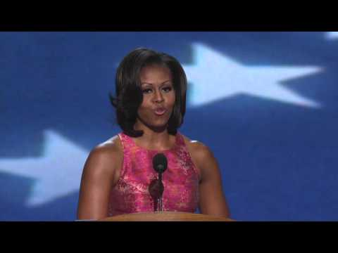 First Lady Michelle Obama at the 2012 Democratic National Convention