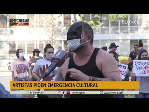 Artistas piden que se declare la emergencia cultural
