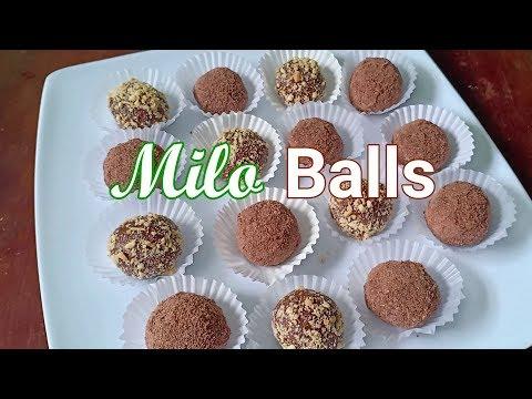 Milo Balls Recipe   No Bake Dessert