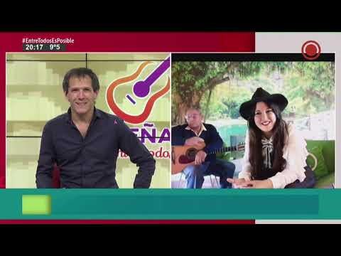 Andrea Morel cantó en Elonce TV y se refirió a la cuarentena y cómo la vive