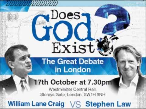 Debate - Does God Exist? William Lane Craig vs Stephen Law
