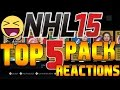 NHL 15 TOP 5 PACK REACTIONS #1 CROSBY?! OVI?! DATSYUK!?! (HUT Pack Openings)