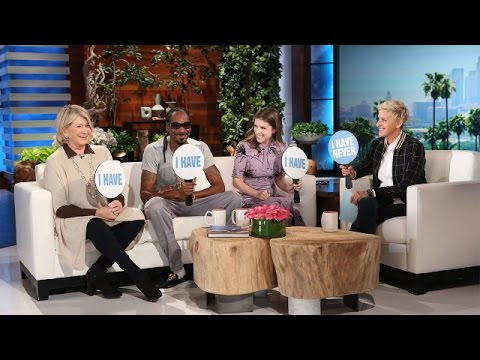 Snoop Dogg and Martha Stewart Play Never Have I Ever on 'Ellen'