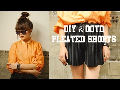 OOTD & DIY Pleated Shorts
