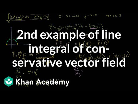 Second Example of Line Integral of Conservative Vector Field