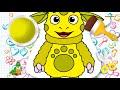 Мультик - РАСКРАСКА. Рисуем ЛУНТИКА и Учим Цвета - Развивающее видео для детей