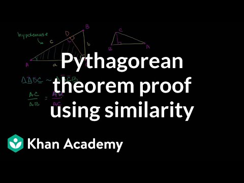 Pythagorean Theorem Proof Using Similarity