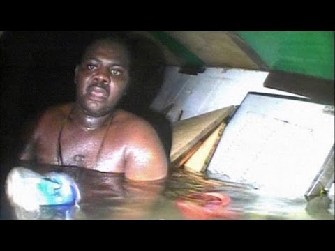 Amazing Rescue Of Man Trapped In Sunken Ship