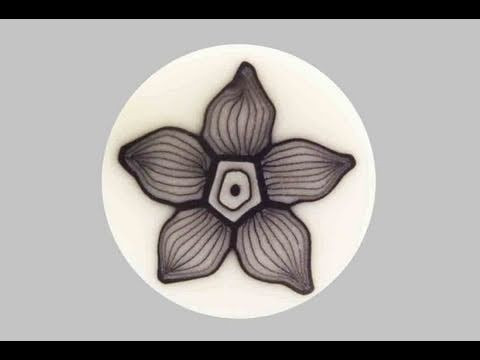 Millefiori cane: Fiore Fantasmino (polymer clay tutorial)