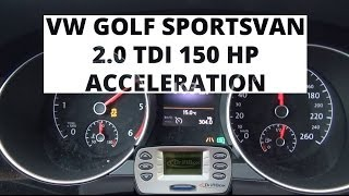 Volkswagen Golf Sportsvan 2.0 TDI 150 KM - acceleration 0-100km/h