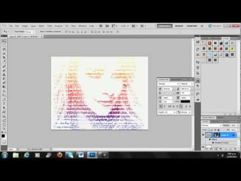 photoshop tutorial text photo effect