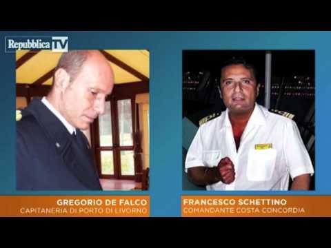 Le telefonate della Capitaneria di Porto al comandante Schettino della nave Concordia
