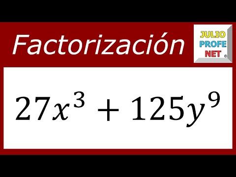 Factorización usando el caso SUMA DE CUBOS PERFECTOS