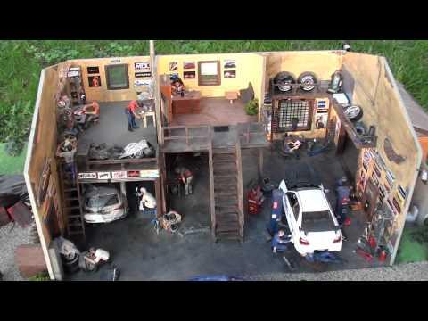 Диорама гараж своими руками