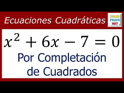 Solución de una ecuación cuadrática por completación de cuadrados