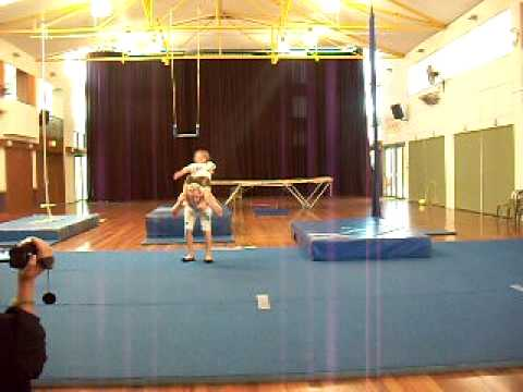 Funny Children's Circus Acrobatics Performance