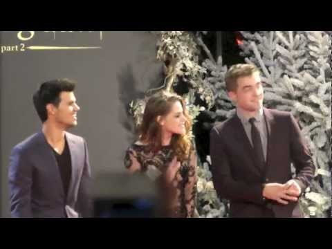 London Premiere Twilight Breaking Dawn 2, Robert Pattinson, Kristen Stewart, Taylor Lautner, 2012