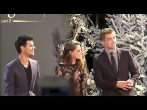 London Premiere Twilight Breaking Dawn 2, Robert Pattinson, Kristen Stewart, Taylor Lautner, 2012