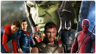 All SUPERHERO Movie Trailers (2017)
