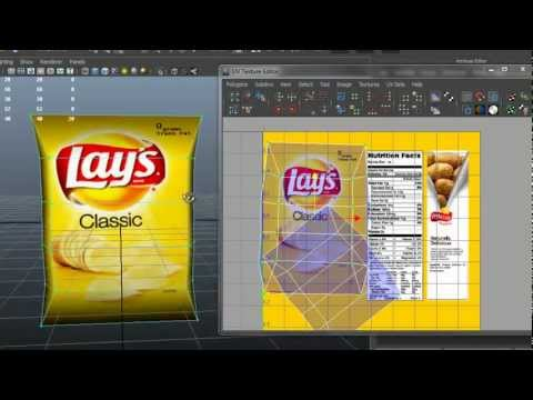 Autodesk Maya 2013 - Potato Chips Bag Modeling-Texturing
