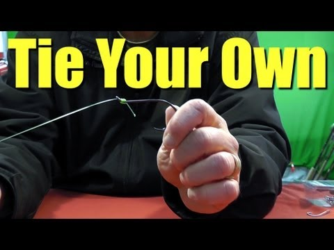 FISHING KNOTS - How to SNELL FISH Hooks Quick Easy and Strong Method for Saltwater Fishing