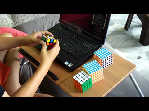 Rubik cube 3x3x3 avg of 12: 10.14with avg of 5 : 9.87(single 6.80)