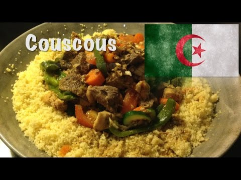 How to cook Couscous with meat and vegetables (The Algerian dish)