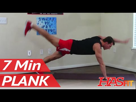 7 Minute Plank Workout - HASfit Plank Exercises for Abs - Planks Exercise - Ab Workouts