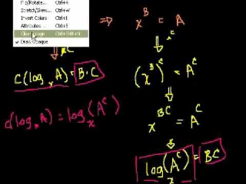 Dimostrazione: A(log B) = log (B^A), log A - log B = log (A/B)