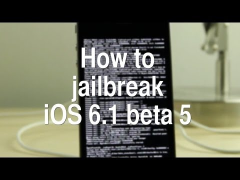 How to jailbreak iOS 6.1 beta 5 - tethered, pre-A5