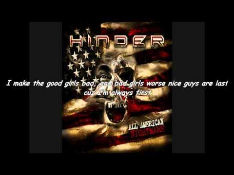 Hinder All American Nightmare Lyrics poster