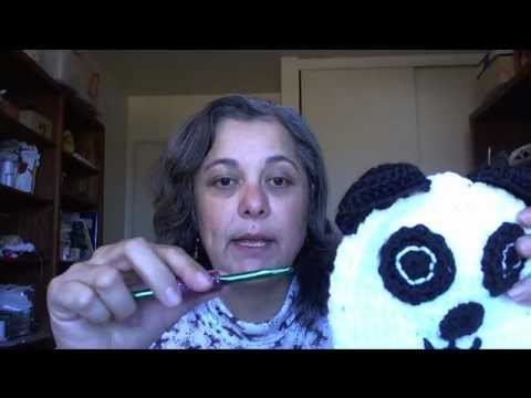 How to crochet  a panda beanie - Baby panda