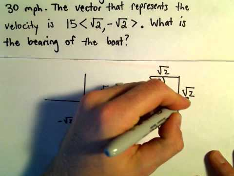 Word Problems Involving Velocity or Other Forces (Vectors), Ex 1