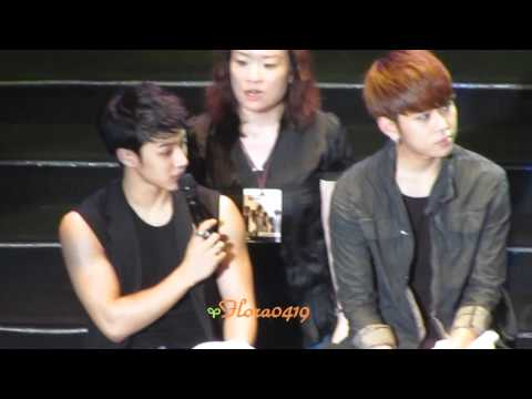 110723 BEAST FanMeeting In Taiwan - Man Show & Talk